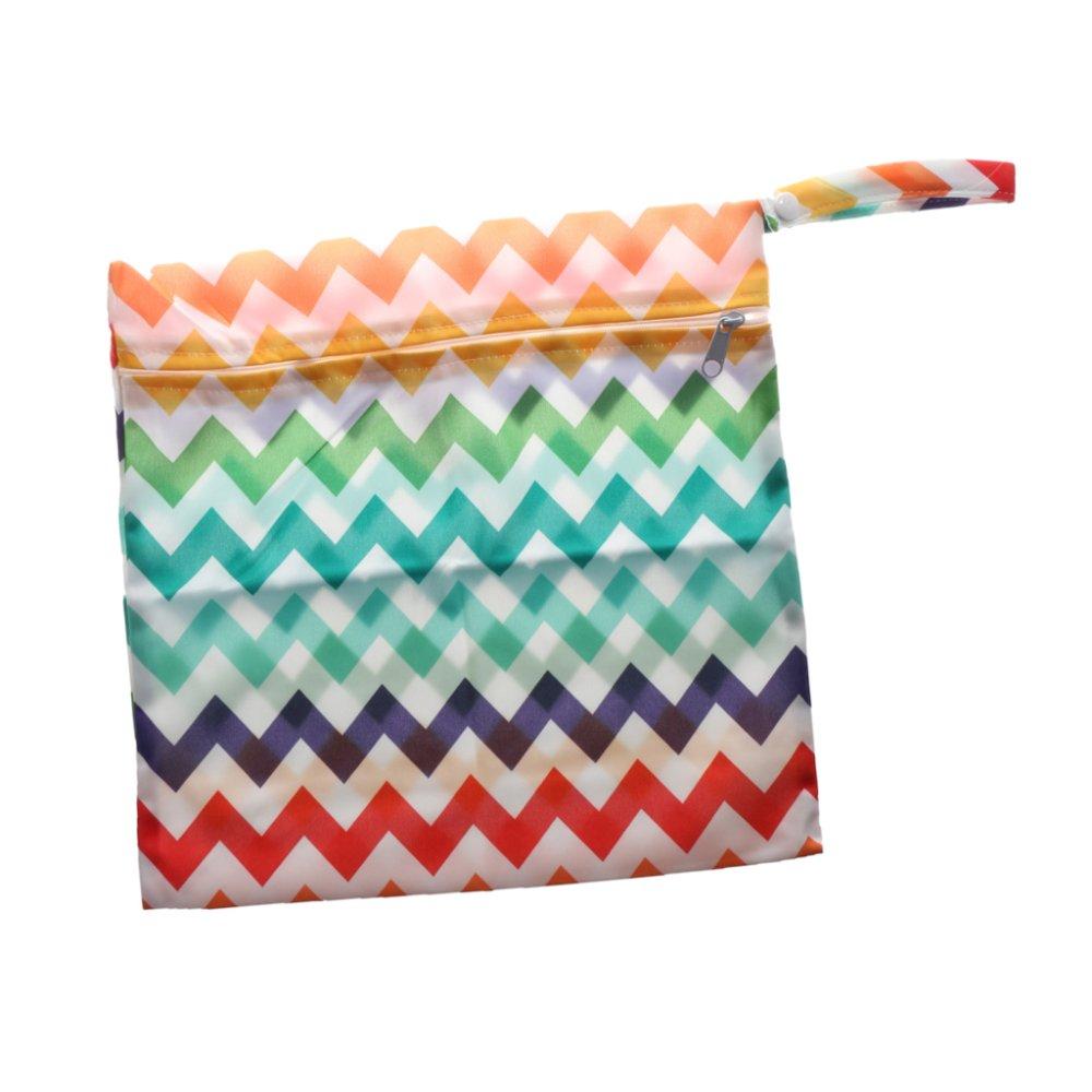 BolehDeals Phenovo Baby Waterproof Zipper Reusable Diaper Bag Multi Animal Pattern 1 - intl