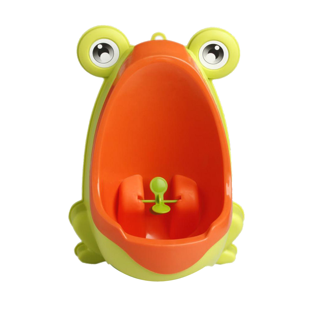 BolehDeals Toddler Kid Boy Toilet Frog Potty Urinal Stand Up Pee Wee Training-Yellow - intl