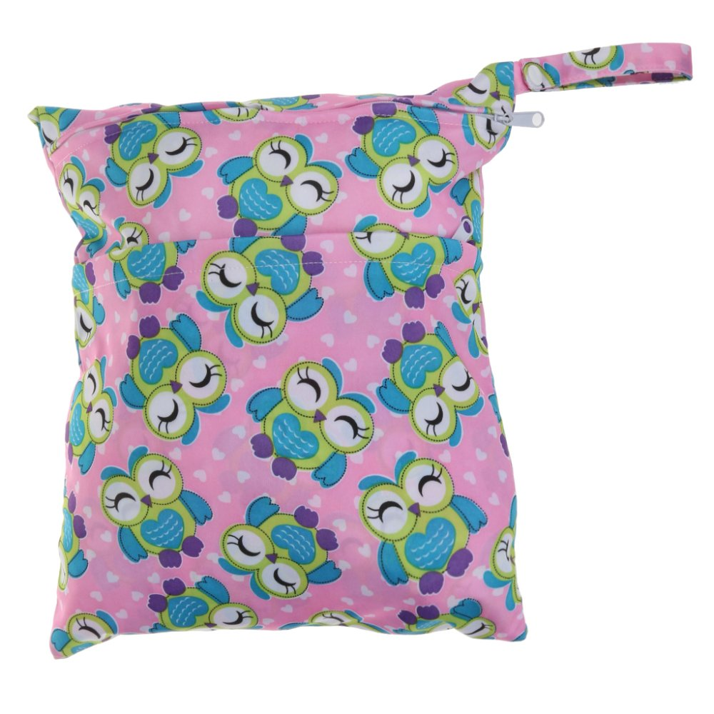 BolehDeals Waterproof Resuable Wet Dry Baby Diaper Bag Organizer Pouch Dual Zipper#2 - intl