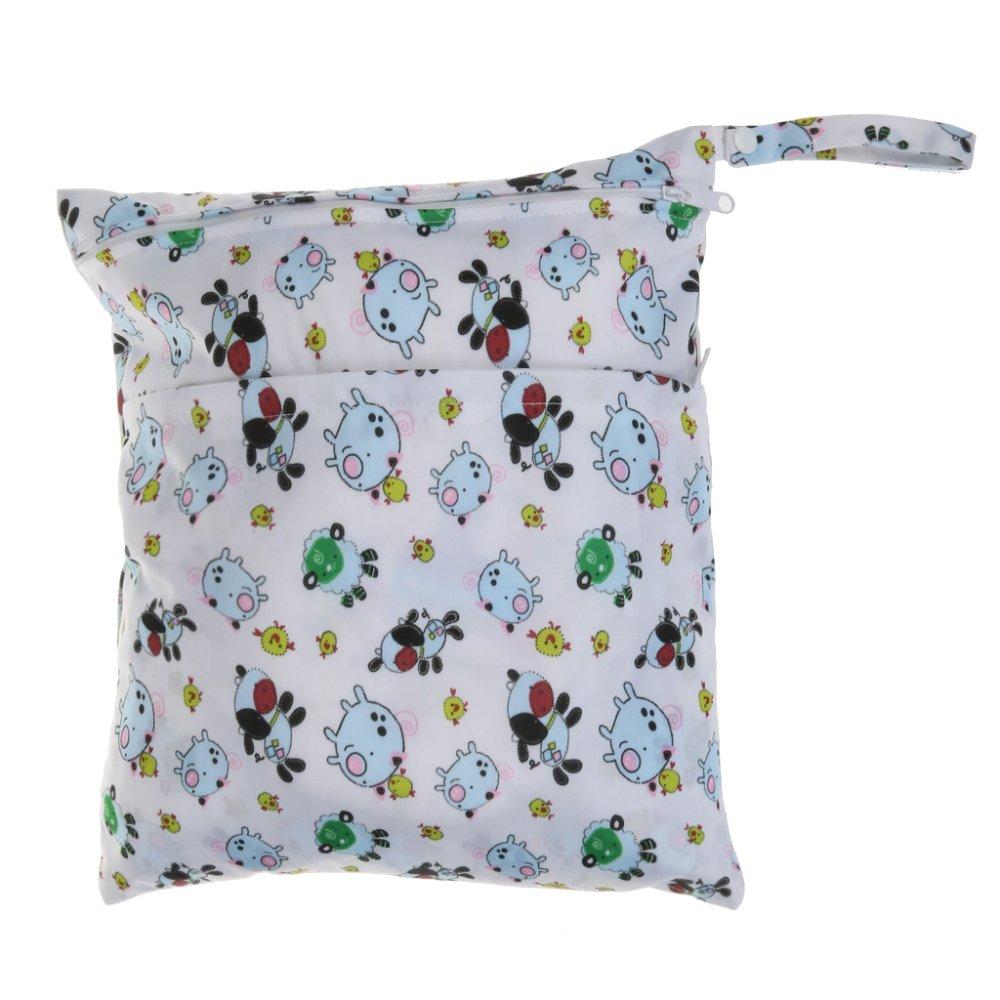 BolehDeals Waterproof Resuable Wet Dry Baby Diaper Bag Organizer Pouch Dual Zipper#5 - intl