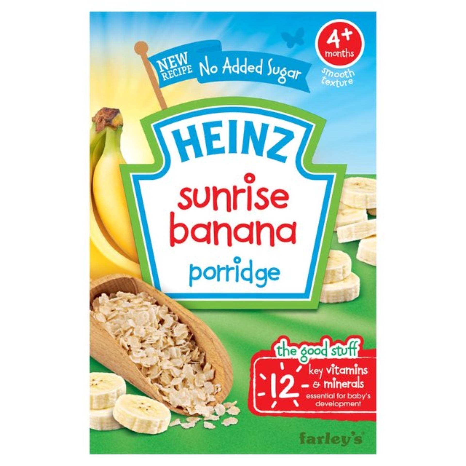 Bột ăn dặm Heinz breakfast ngũ cốc chuối cho bé 4m+ 125g(Natural)