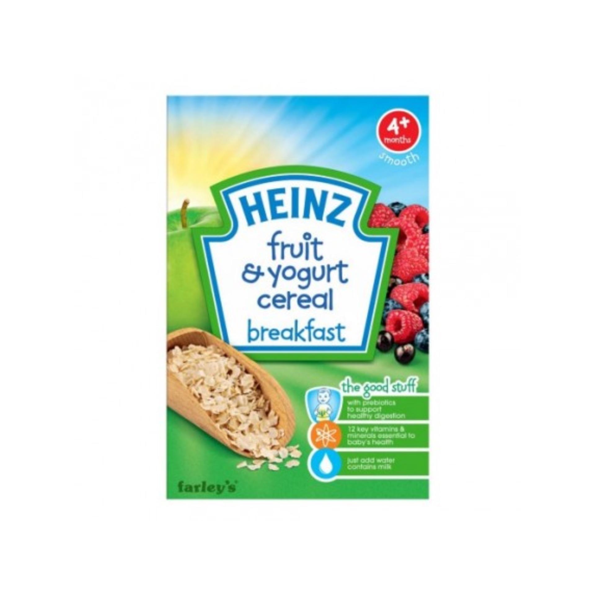 Bột ăn dặm Heinz breakfast ngũ cốc sữa chua trái cây cho bé 4m+ 125g(Natural)