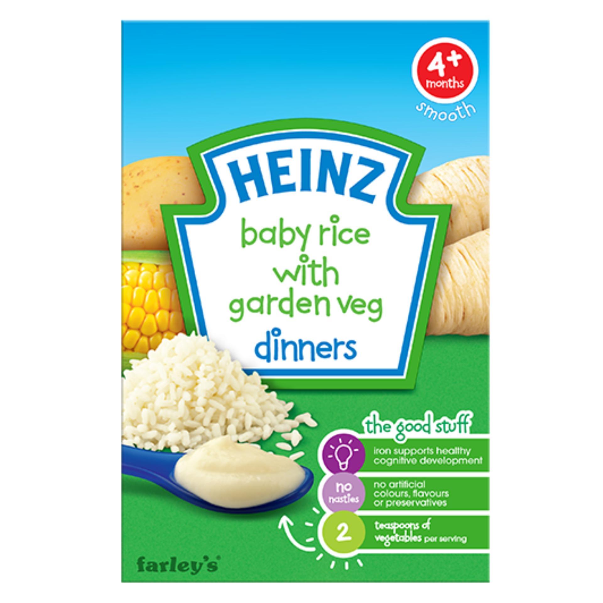 Bột ăn dặm Heinz dinner gạo rau củ xay nhuyễn cho bé 4m+ 125g(Natural)