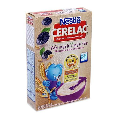 Bột ăn dặm Nestlé Cerelac yến mạch mận tây 200g
