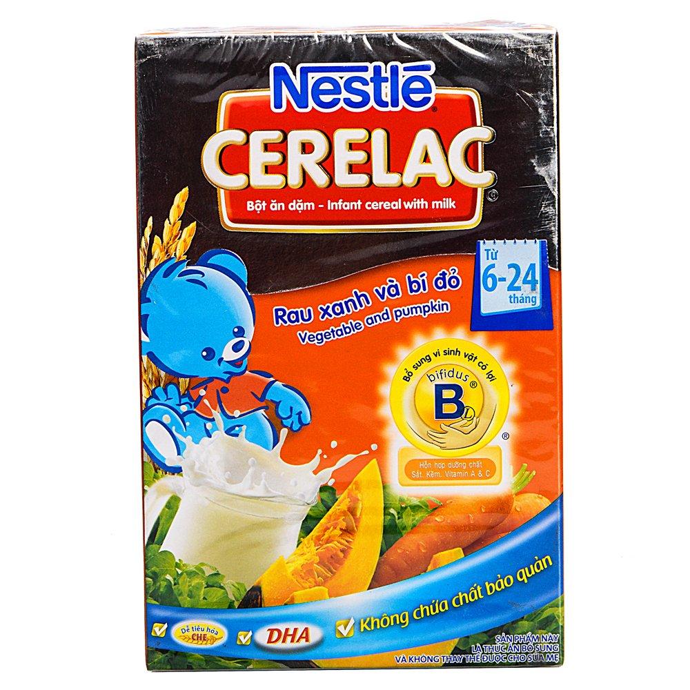Bột ngũ cốc rau xanh và bí đỏ Nestle 200g