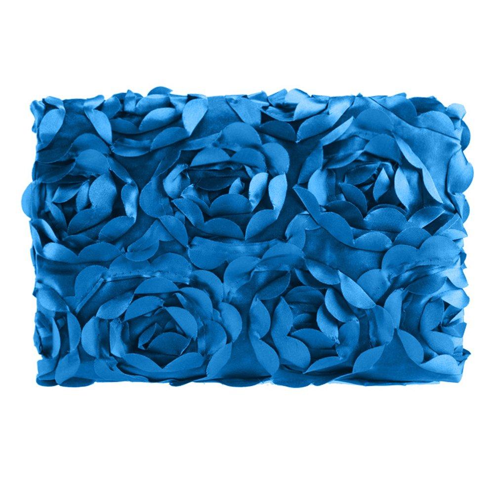 Cyber Fashion Newborn Baby 3D Photography Photo Props Rose Flower Backdrop Blanket Rug(Dark Blue)