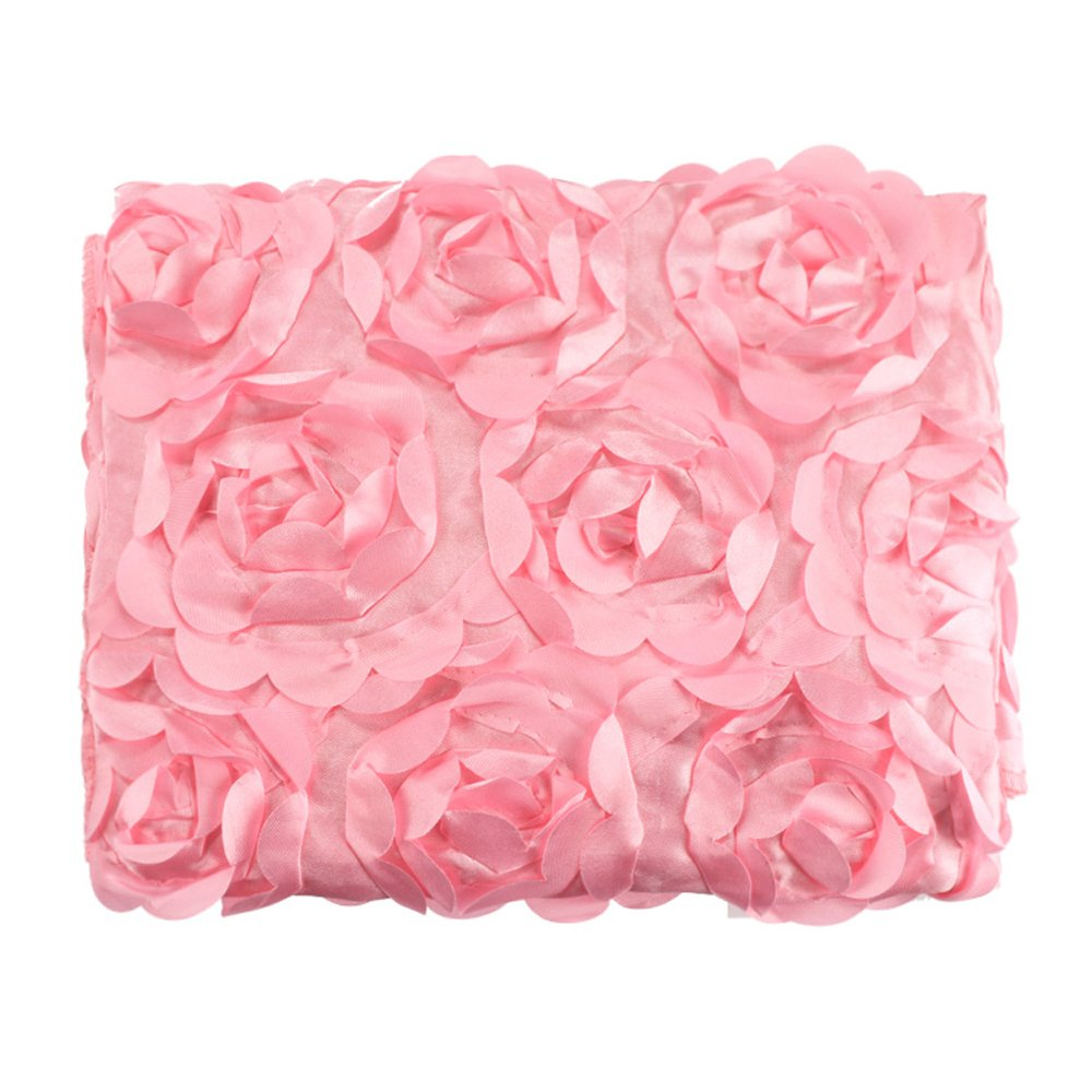 Cyber Fashion Newborn Baby 3D Photography Photo Props Rose Flower Backdrop Blanket Rug(Pink)