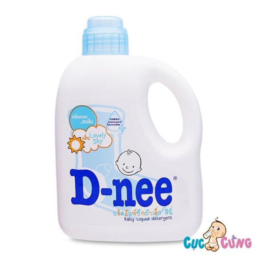 Dung dịch giặt xả Dnee 960ml (xanh)