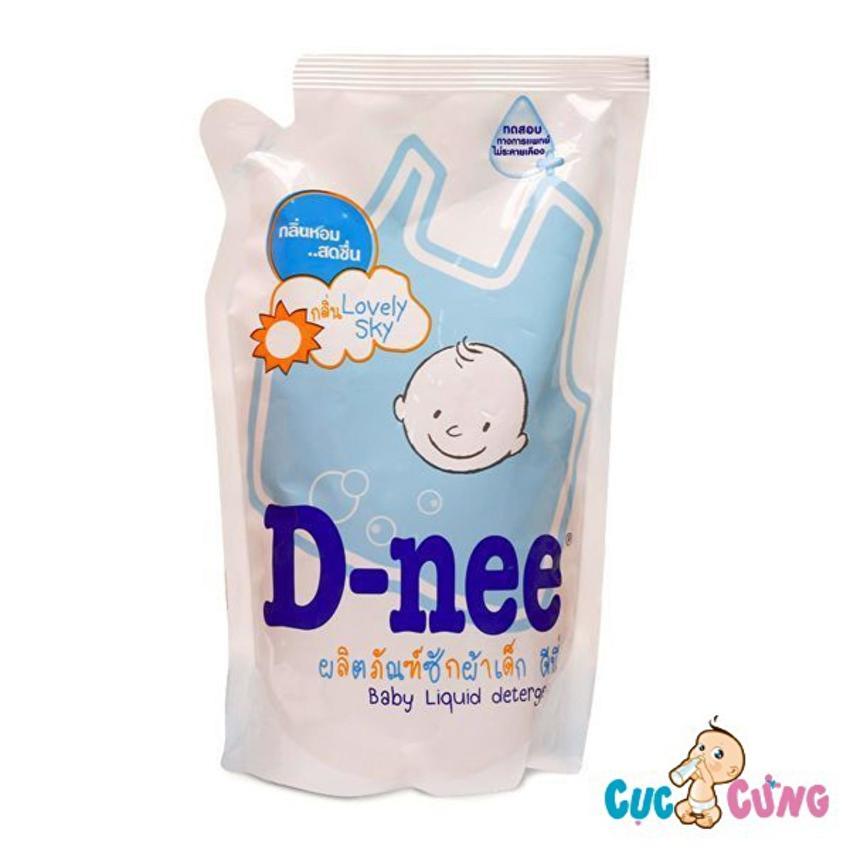 Dung dịch giặt xả Dnee gói 600ml (xanh)