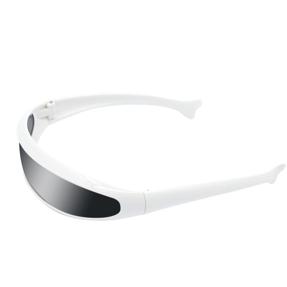 Futuristic Children Kids White PC Frame Lens Sunglasses Party Costume Funny Props Goggles