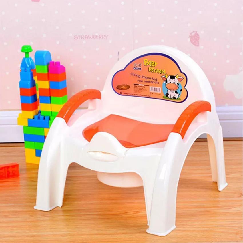 Ghế bô vệ sinh cho bé có siêu tiện dụng An Store (Cam)