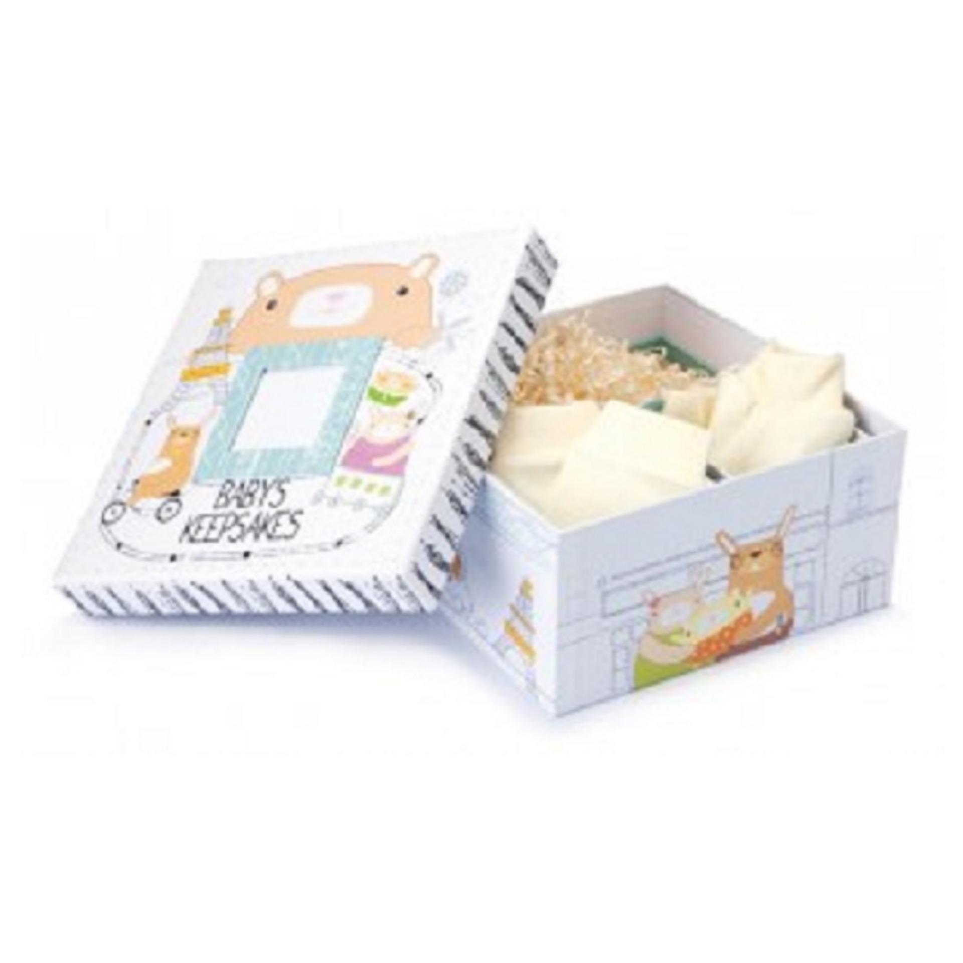 GT Bộ quà tặng cho bé Gifthings - Dear Bunny (2 hộp quà nhỏ + 1 chú gấu nhồi bông + 1 đôi bao tay em bé + 1 đôi bao chân em bé)