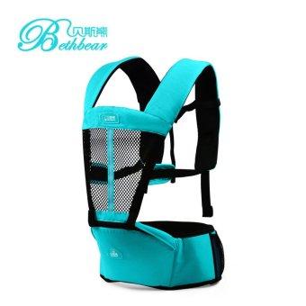 Địu ngồi trẻ em đa năng 4 tư thế thiết kế 3D Bethbear BS1405C (xanh lam)