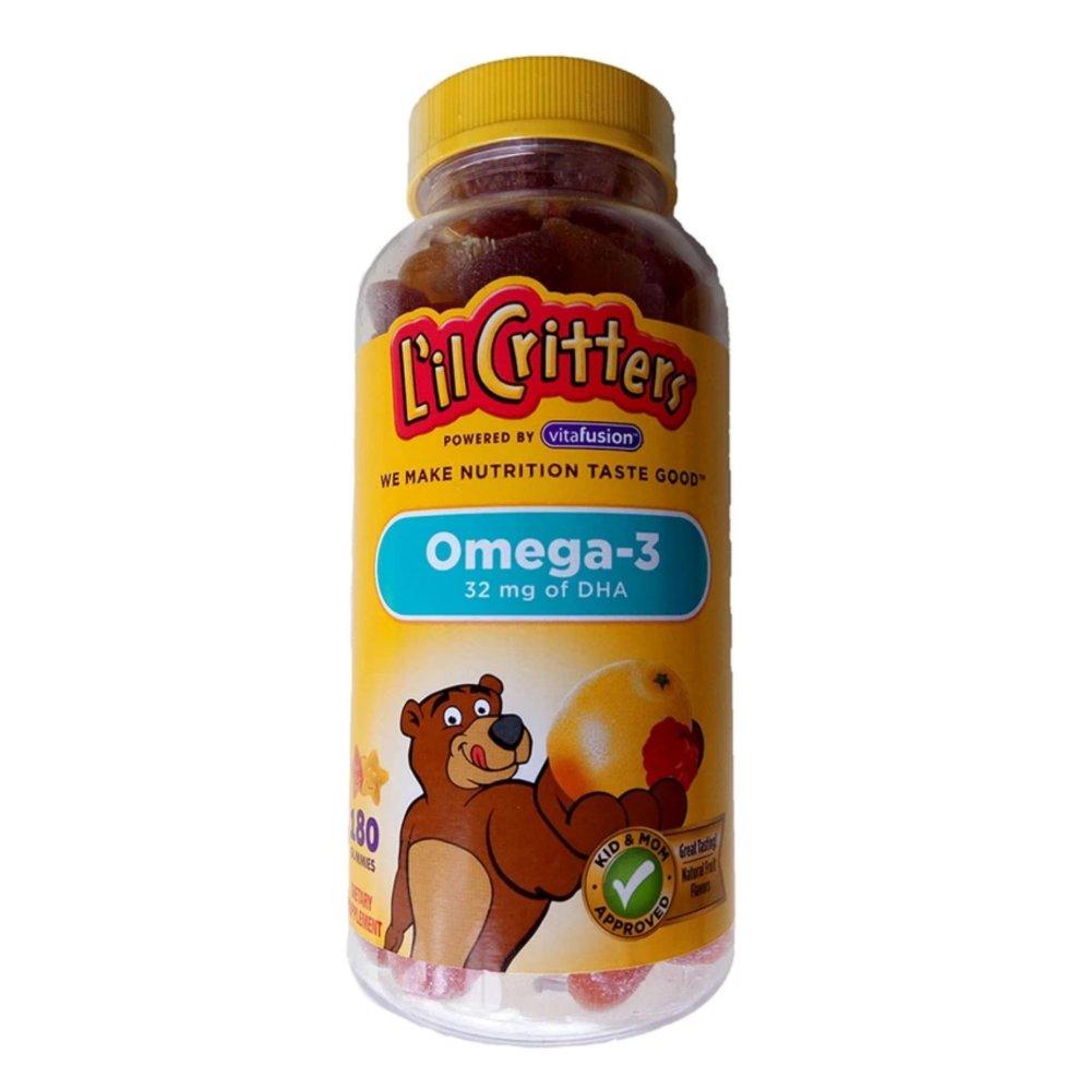 Kẹo gấu L'il Critters bổ sung Omega-3 cho bé (180 viên)