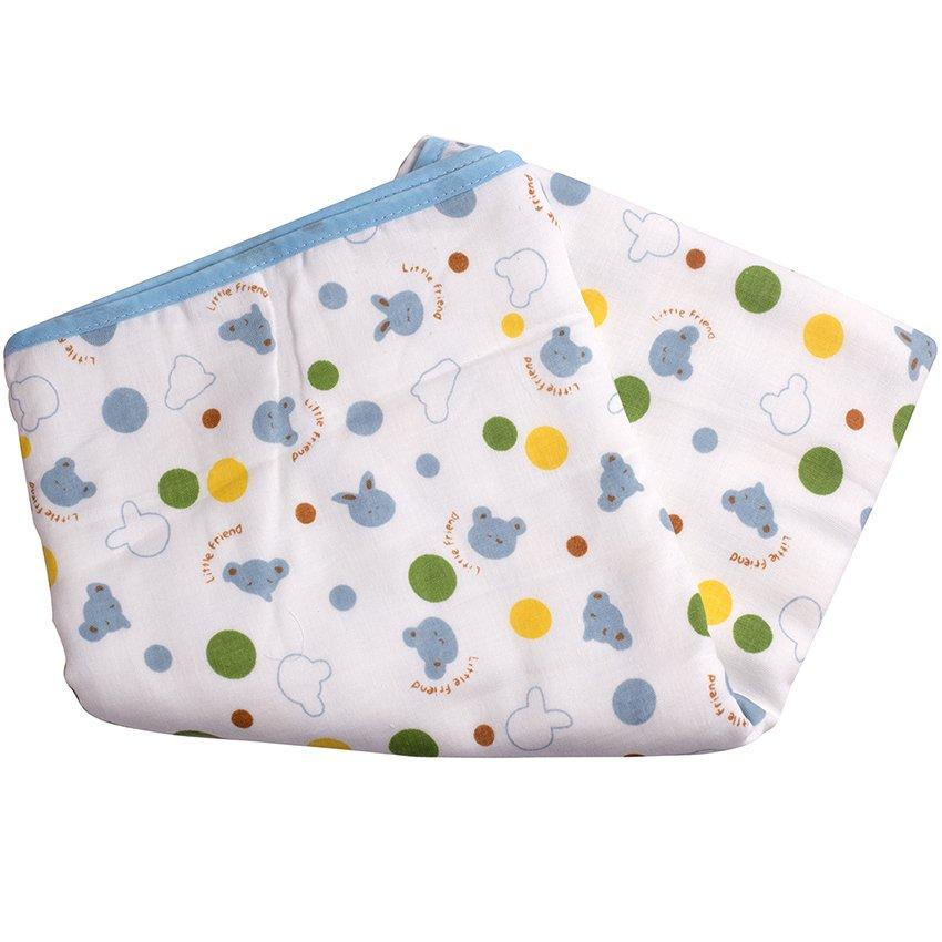 Khăn tắm xô 6 lớp 90x90cm (Xanh dương)
