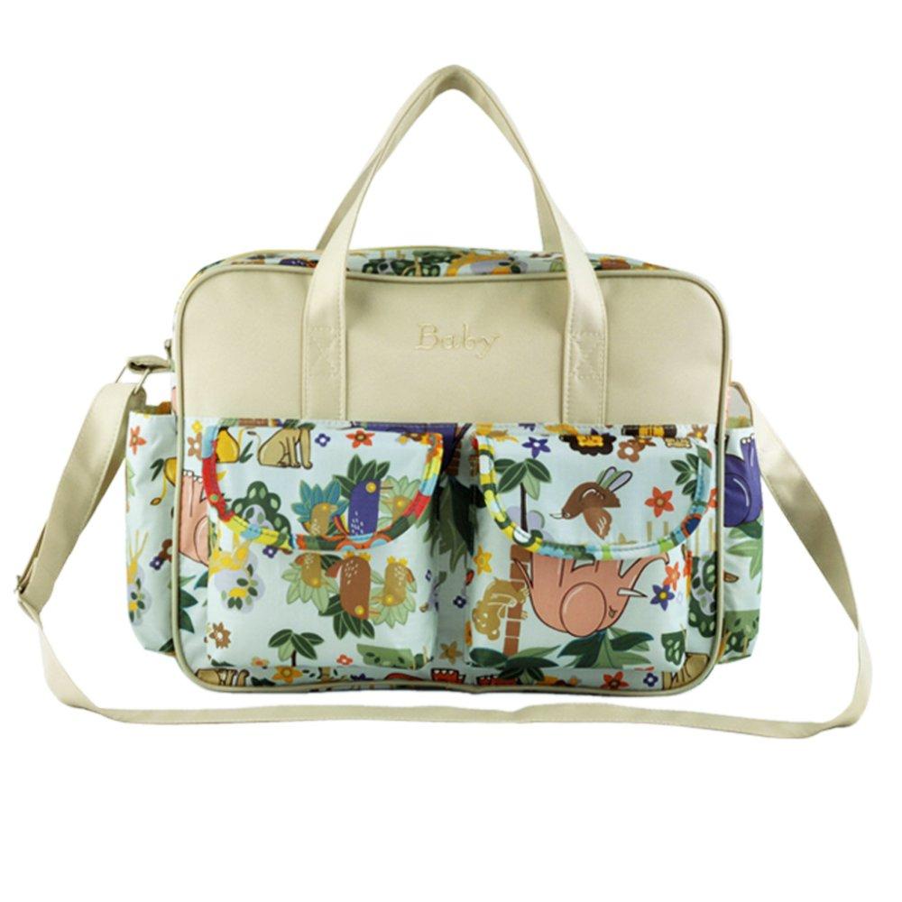 Lovely Animals Pattern Nappy Bag (Multicolor) - Intl
