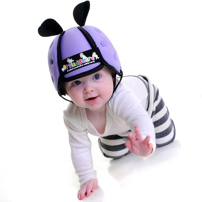 Mũ bảo hiểm cho bé tập bò.tập đi (Tím)