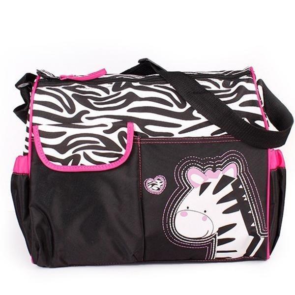 Multi Function Baby Diaper Nappy Changing Bag Changing Mat Mummy Handbag Hot Pink - Intl