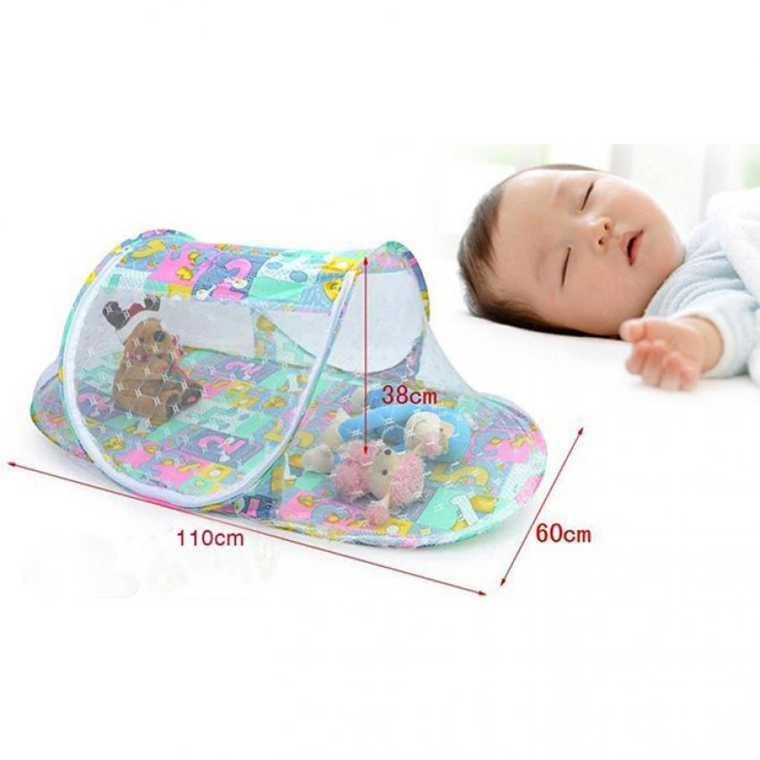Mùng ngủ chống muỗi cho bé xinh Hanghot (Xanh)