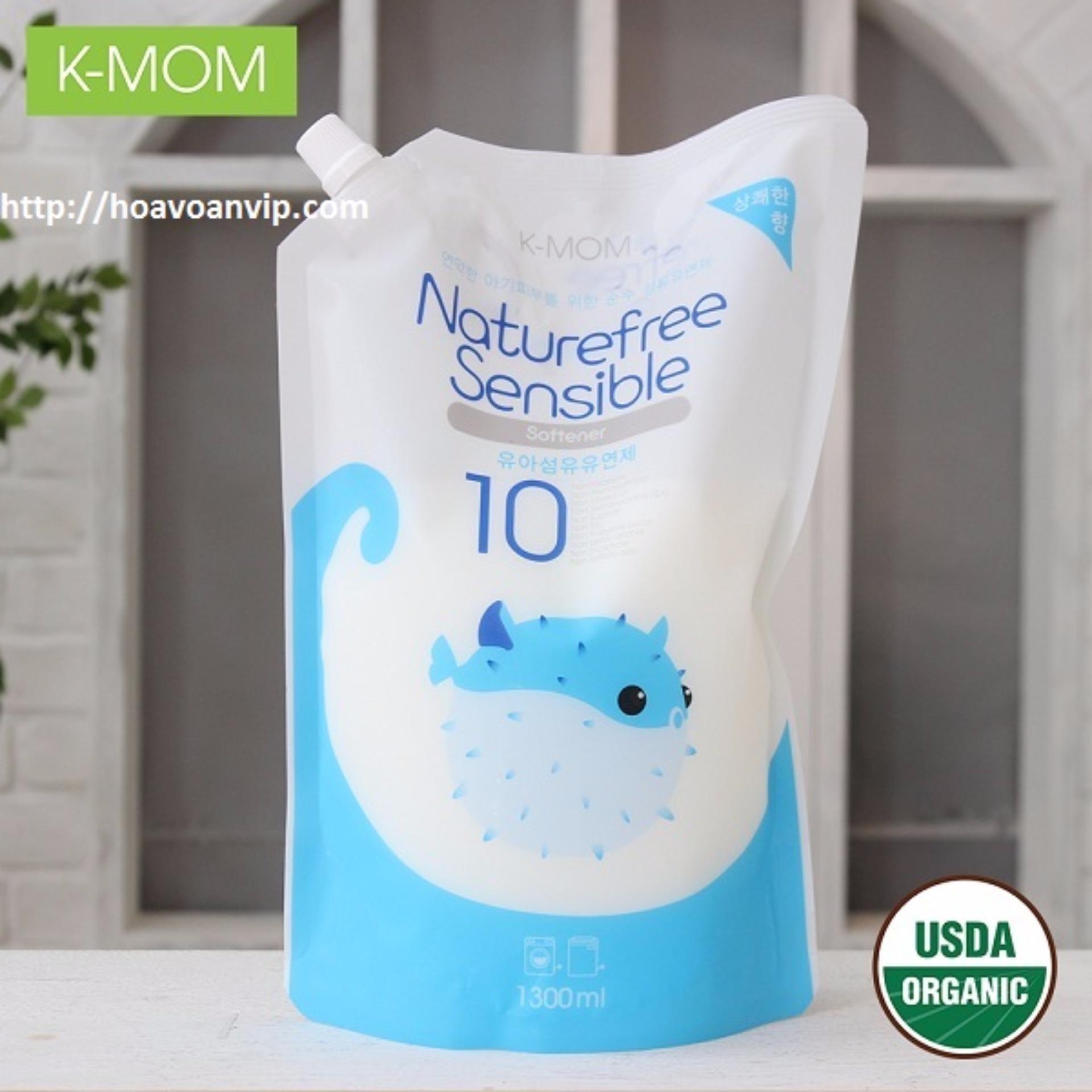 Nước Xả Vải Hữu Cơ K-Mom Hàn Quốc Túi Xanh 1300ml VKM13124