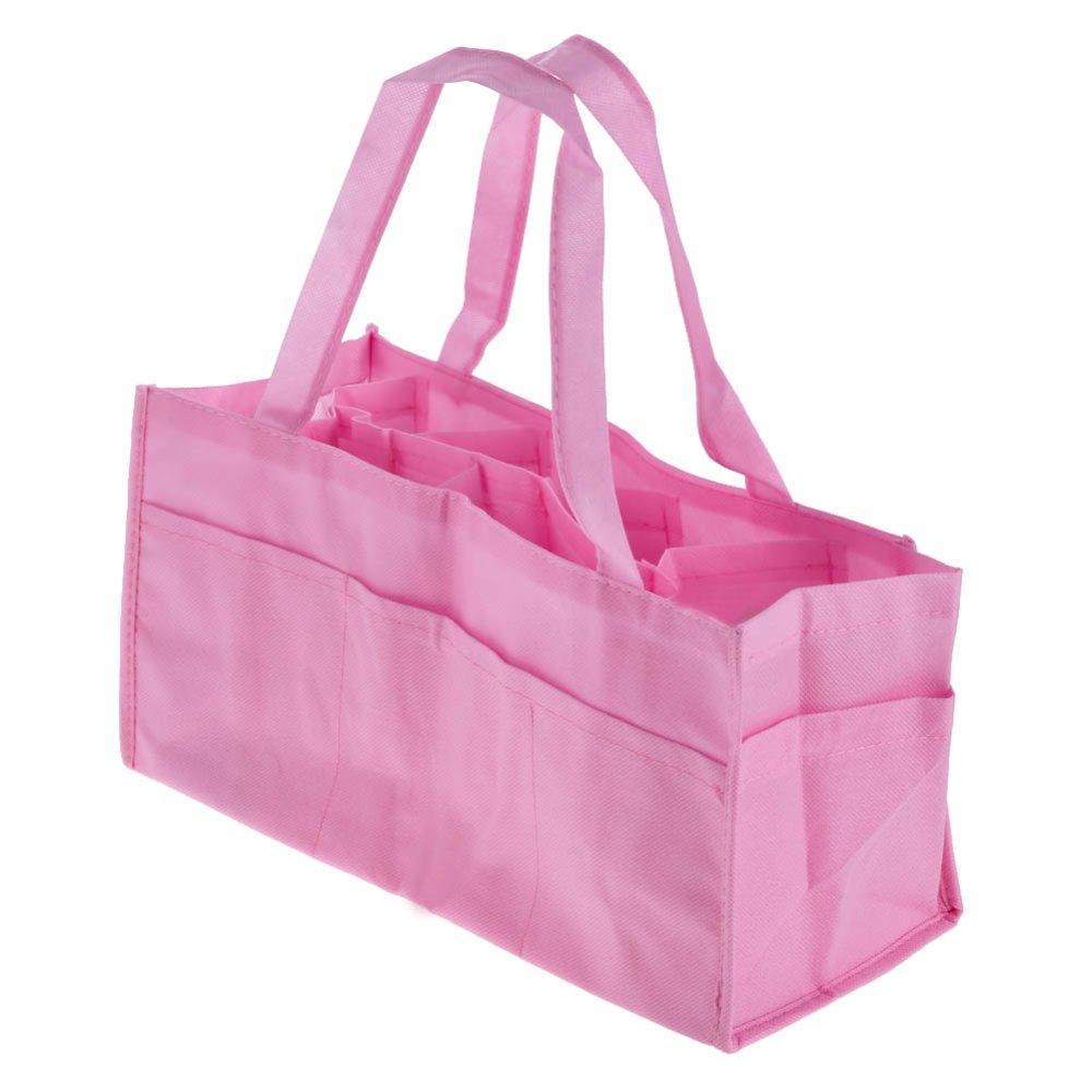 Portable Baby Diaper Nappy Storage Bag (Pink)