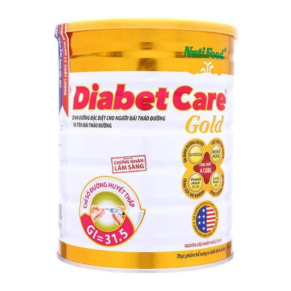 Sữa bột cho người bị bệnh tiểu đường Nutifood DiabetCare Gold 900g