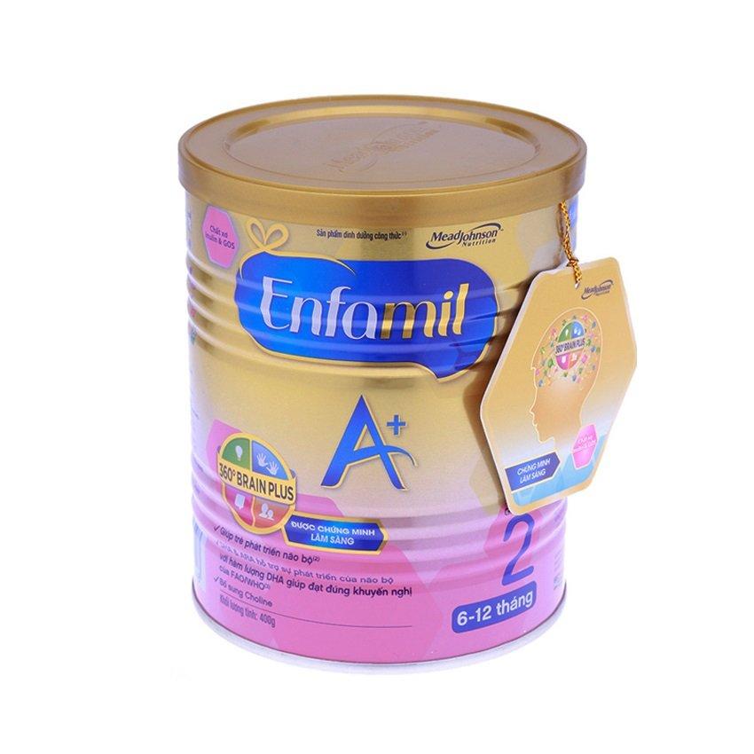 Sữa bột cho trẻ Enfamil A+2 360o Brain Plus Inulin & GOS 400g
