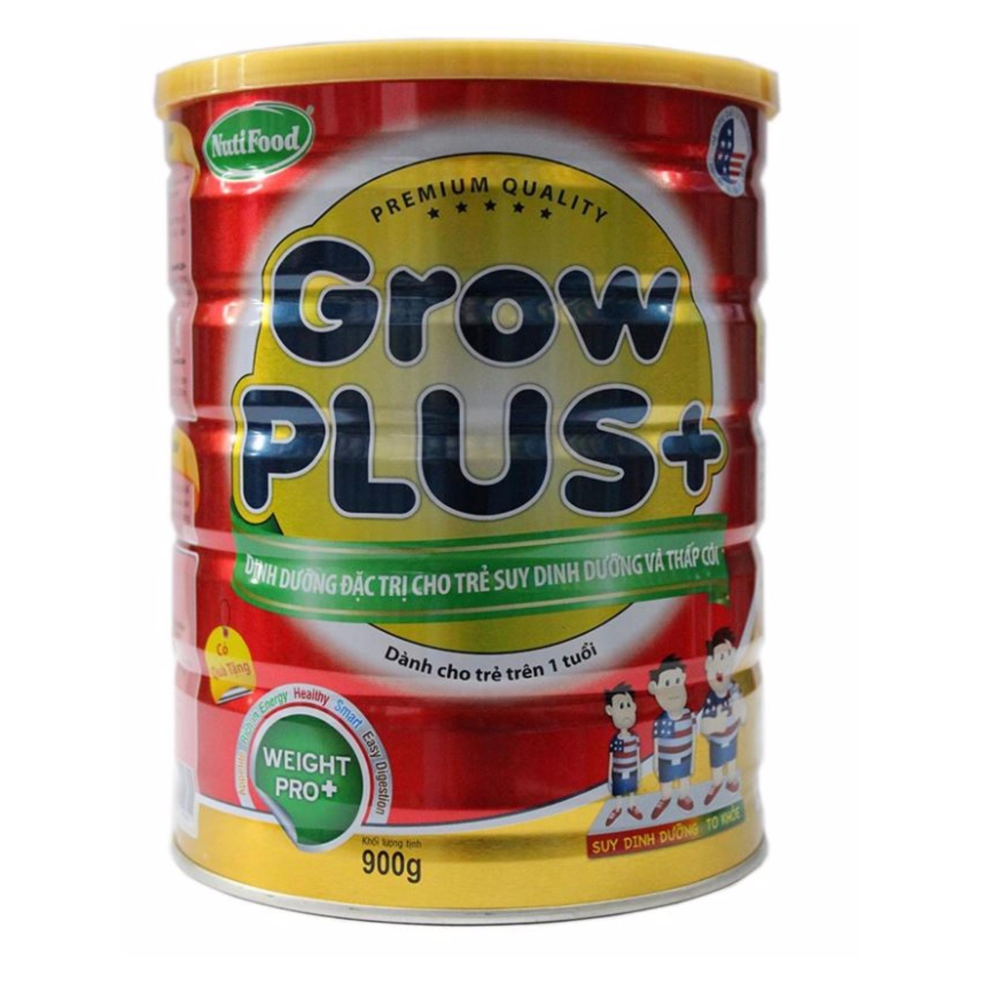 Sữa bột cho trẻ suy dinh dưỡng và thấp còi Nutifood Grow Plus + 900g
