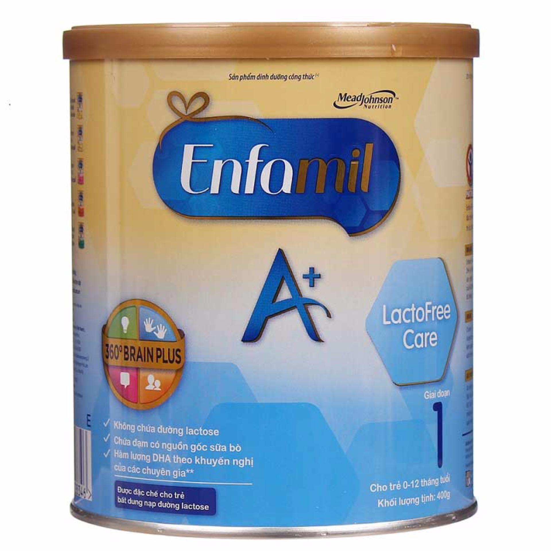 Sữa bột Enfamil A+ Lactofree 360o Brain Plus 400g