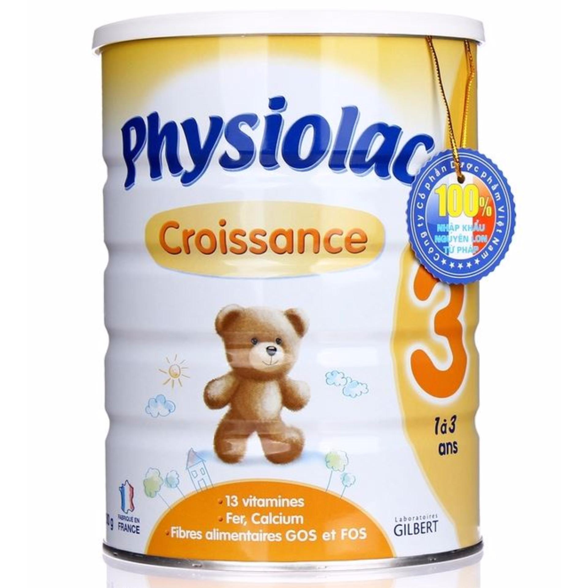 Sữa bột trẻ em Physiolac 3 900g