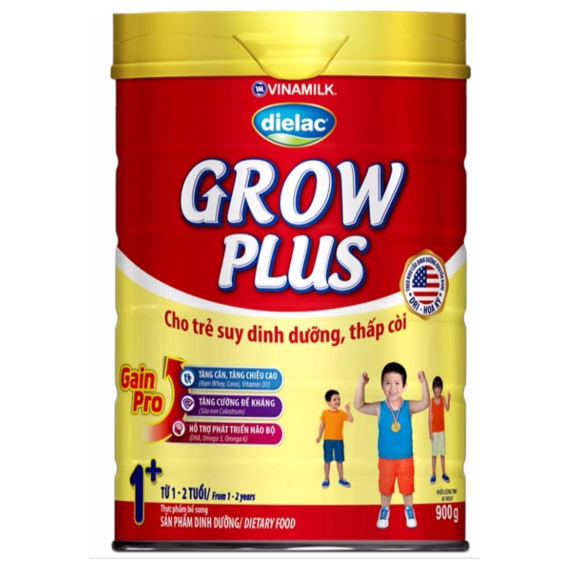 Sữa bột Vinamilk Dielac Grow Plus 1+ 900g (Hộp thiếc)