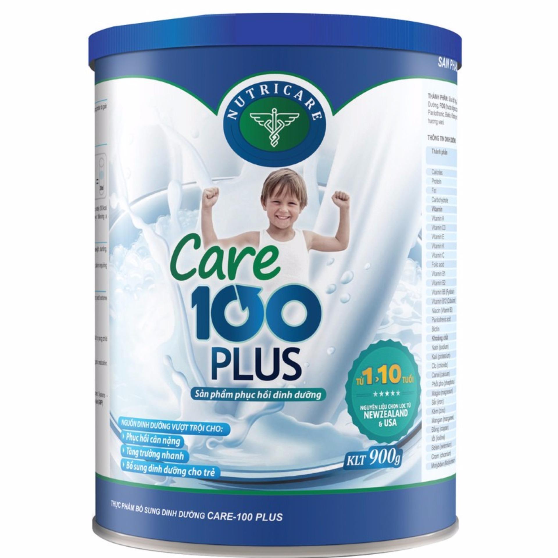 Sữa cho bé Nutricare Care 100 Plus 900g(500ml - 1 lít)