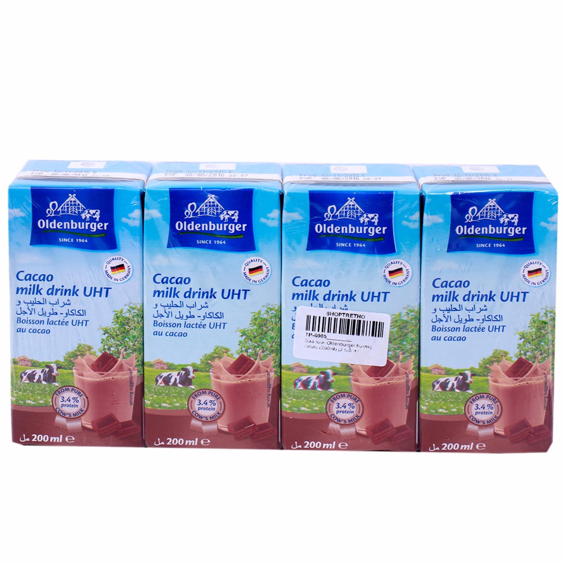 Thùng 24 hộp Sữa Tươi Oldenburger 200ml vị Caca0