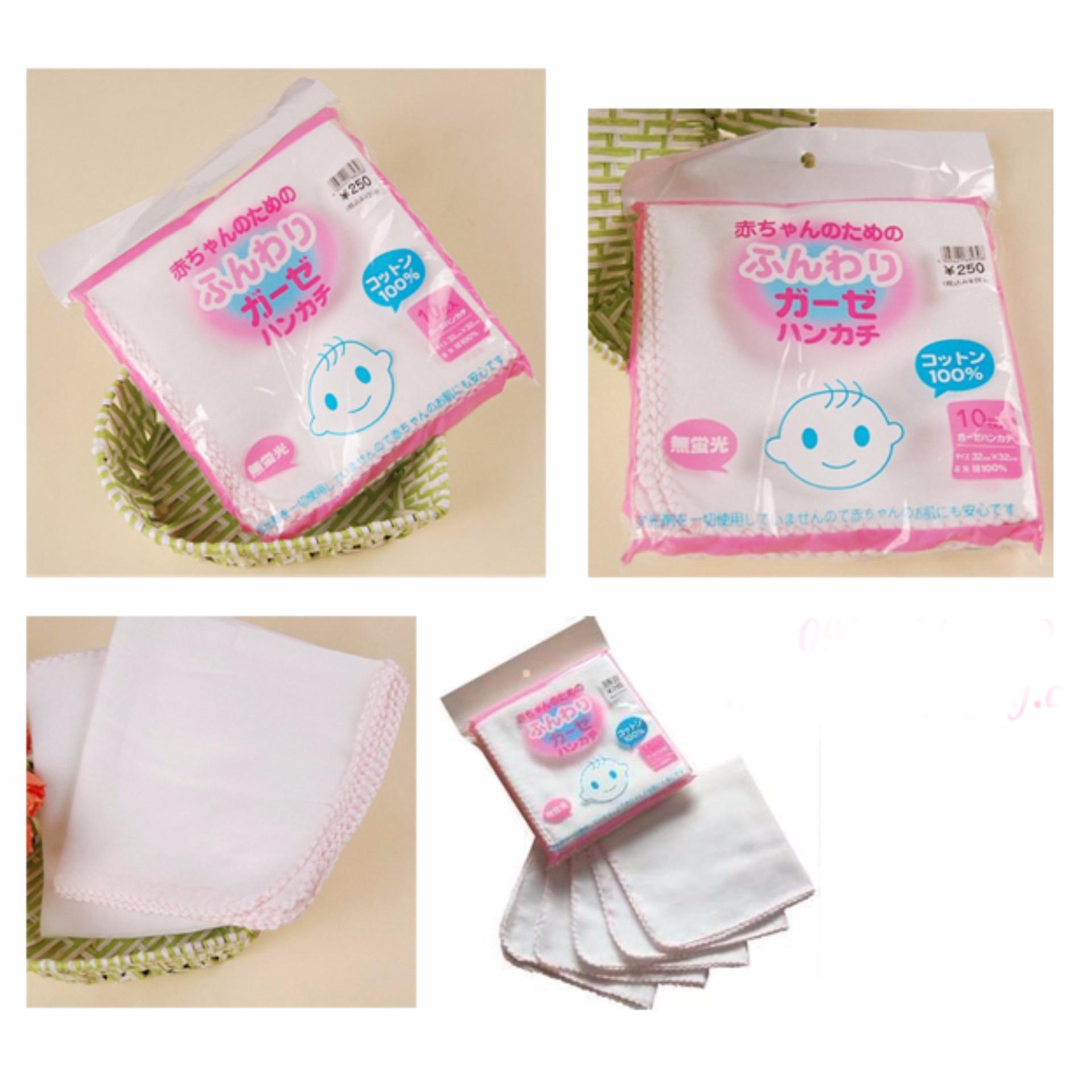 Túi khăn sữa Cao cấp xuất Nhật cho bé yêu (10 chiếc)