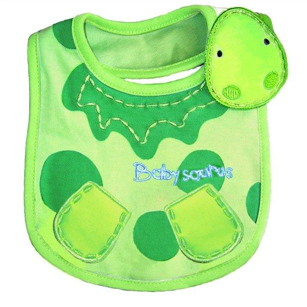 Turtle Pattern 3 Layer Toddler Baby Waterproof Saliva Towel Baby Bibs - Intl