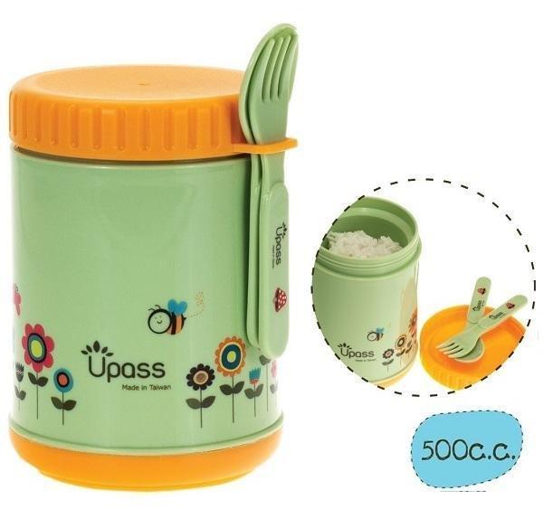 Upass-Hộp giữ ấm thức ăn không BPA 500 cc có thìa và dĩa (nĩa) UP9553Y