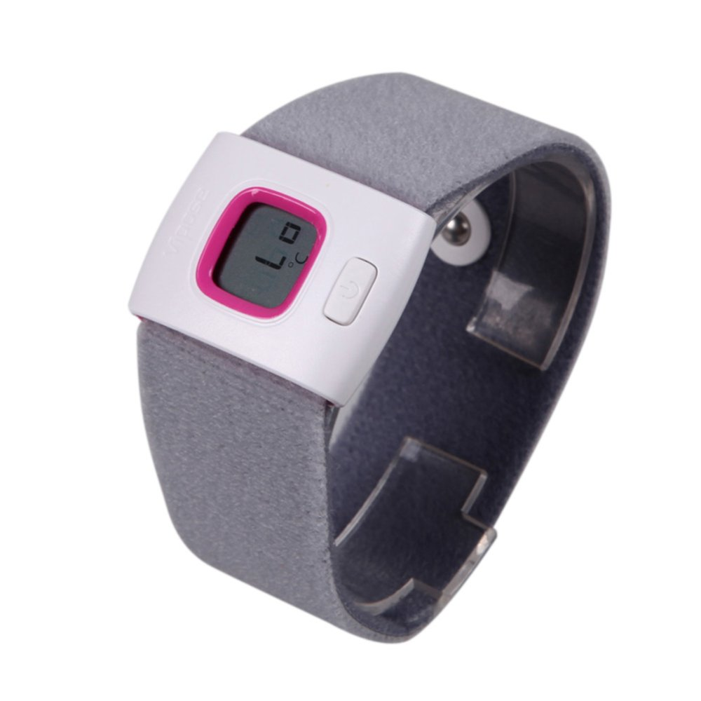 Wearable Thermometer Bluetooth Baby Pink - intl
