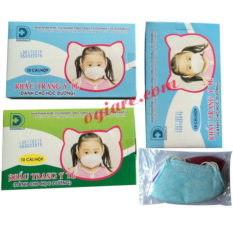Bộ 3 hộp khẩu trang y tế kháng khuẩn cho trẻ Danameco