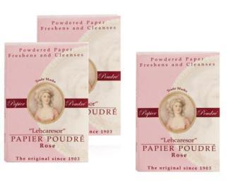 Bộ 3 tập giấy thấm dầu bù phấn Papier Poudré England