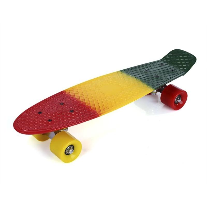 Mua 22 inch Colorful Four-wheel Long Skateboard PP Plastic Board Deck - intl