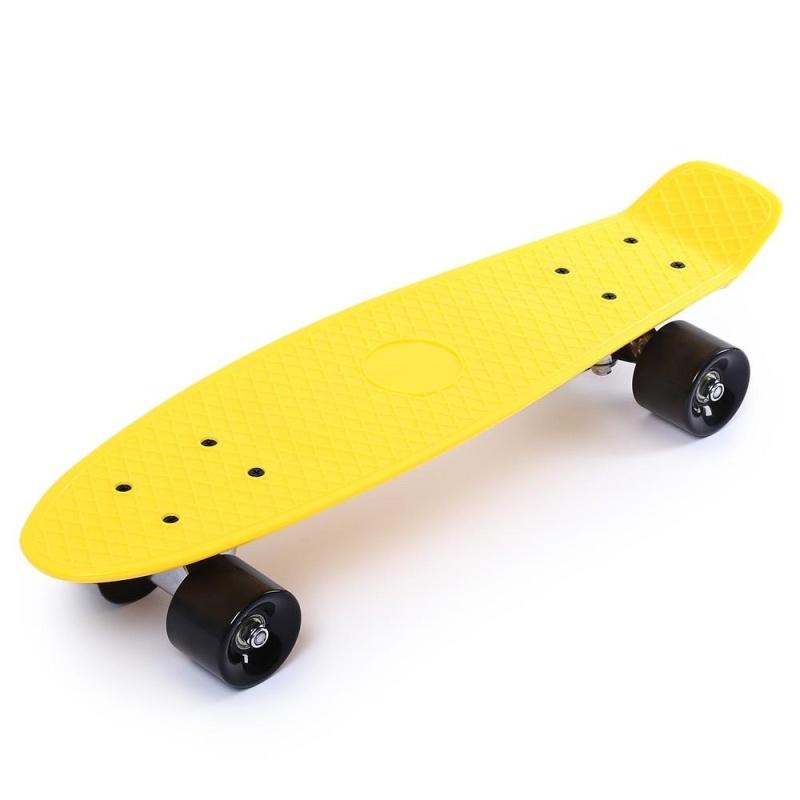 Mua 22 Inches Four-wheel Street Long Skateboard Mini Cruiser Fish Banana Board (Yellow) - intl