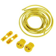 3 Pair / Set Comfortable Roller Skate Shoe Lock Lace Latchet with Cord Clip (Yellow) - intl