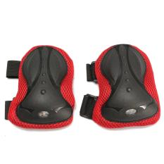 Adult Knee Elbow Wrist Set Guard Pads Protectors For Skating Skateboard Scooter Red - intl