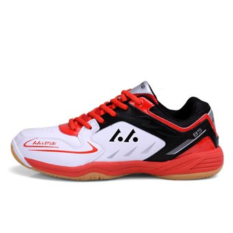 Badminton Shoes Couples Badminton Sneaker Indoor Sport Tennis Shoes(Red) - intl