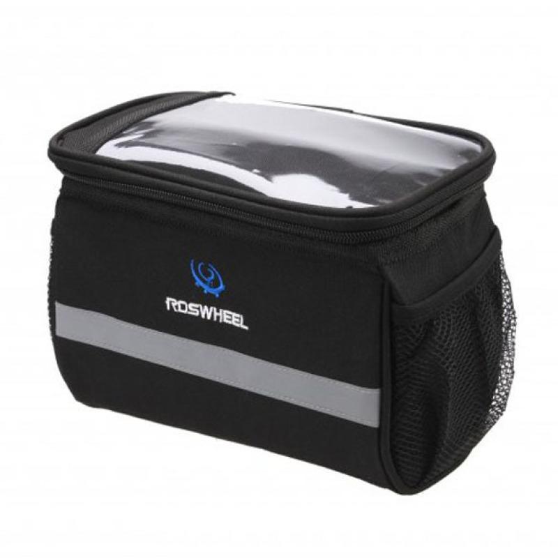 Mua Bike Bicycle Cycling Outdoor Front Basket Pannier Frame Tube Handlebar Bag (Black) (Intl)