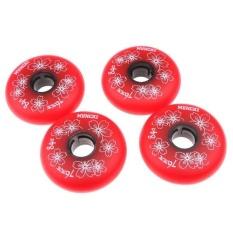 BolehDeals 4 Pieces Inline Roller Hockey Fitness Skate Replacement Wheel 84A 76mm Red - intl