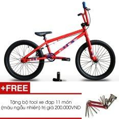 Xe đạp BMX JETT BRONX 201 (Đỏ) + Tặng 1 bộ Tool xe đạp 11 món màu sắc ngẫu nhiên
