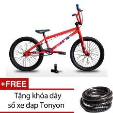 Xe đạp BMX JETT BRONX 201 (Đỏ) + Tặng khóa dây số xe đạp Tonyon