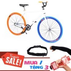 Xe đạp Fixed Single Cổ Chữ A (Đỏ) + Tặng Bình Nước + Găng Tay + Túi đeo hông