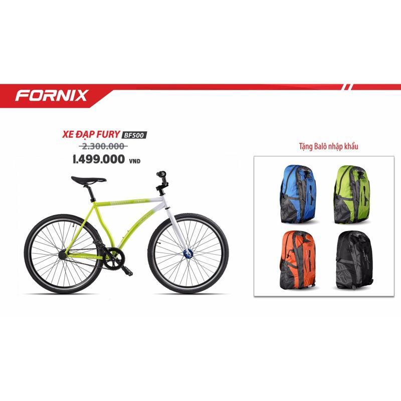 Phân phối Xe đạp FixedGear, hiệu FURY, mã BF500 (xanh lá) + tặng balô nhập khẩu